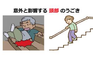 安全に階段を降りるために!頭部からみる階段昇降の動作分析