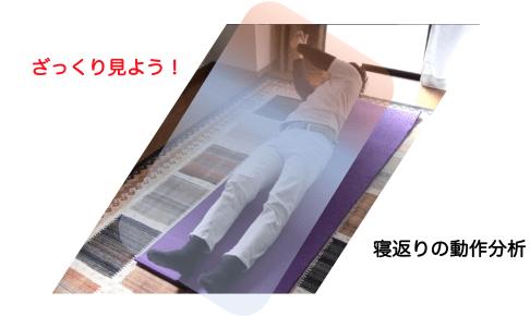 【寝返りの見方がよくわからない方へ捧ぐ】ざっくりと寝返りをみる!3つのポイントから寝返りを分析してみた①
