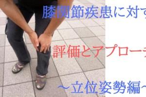 膝関節疾患に対する評価とアプローチ ~立位姿勢編~