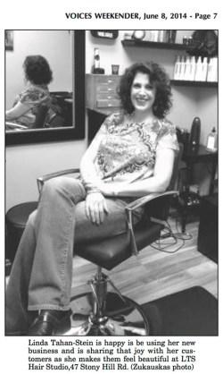 Voices Weekender article: Linda Tahan-Stein opens LTS Hair Studio, Bethel, CT