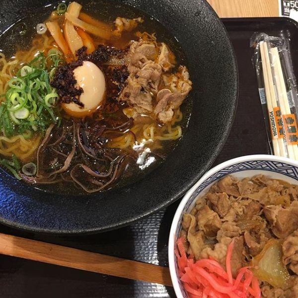 #牛骨ラーメン吉野家 #牛丼並 #成田空港