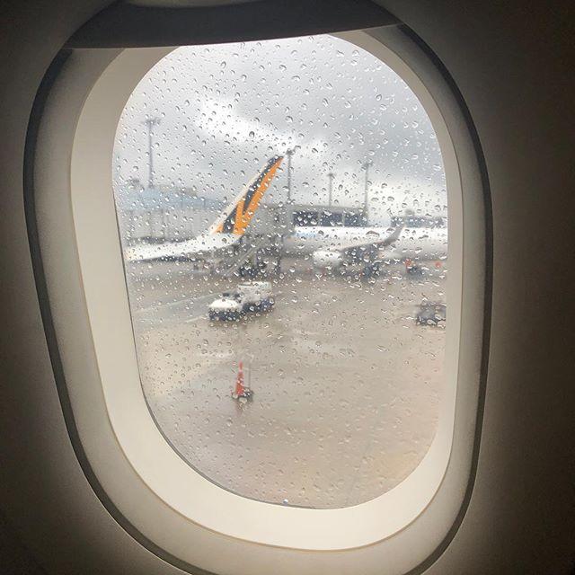 タイガーエア・機内からの桃園空港