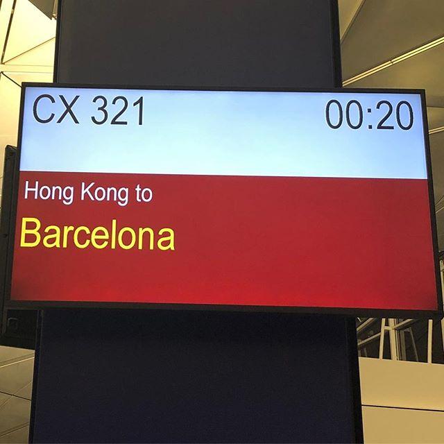 キャセイパシフィック航空・香港発バルセロナ行