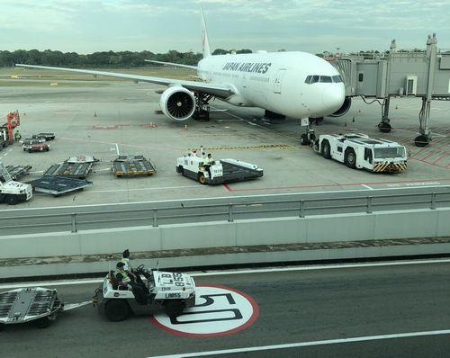 チャンギ空港 成田行きJAL便