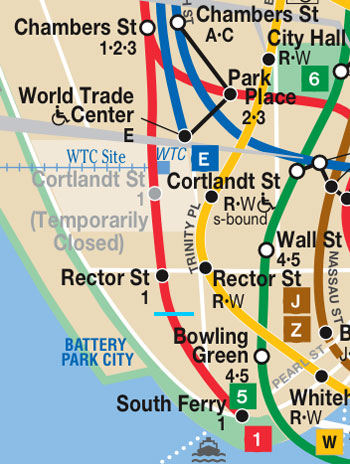 Map Of World Trade Center Before 9 11.The Abandoned Cortlandt Street Station And The 9 11 Line Ltv Squad