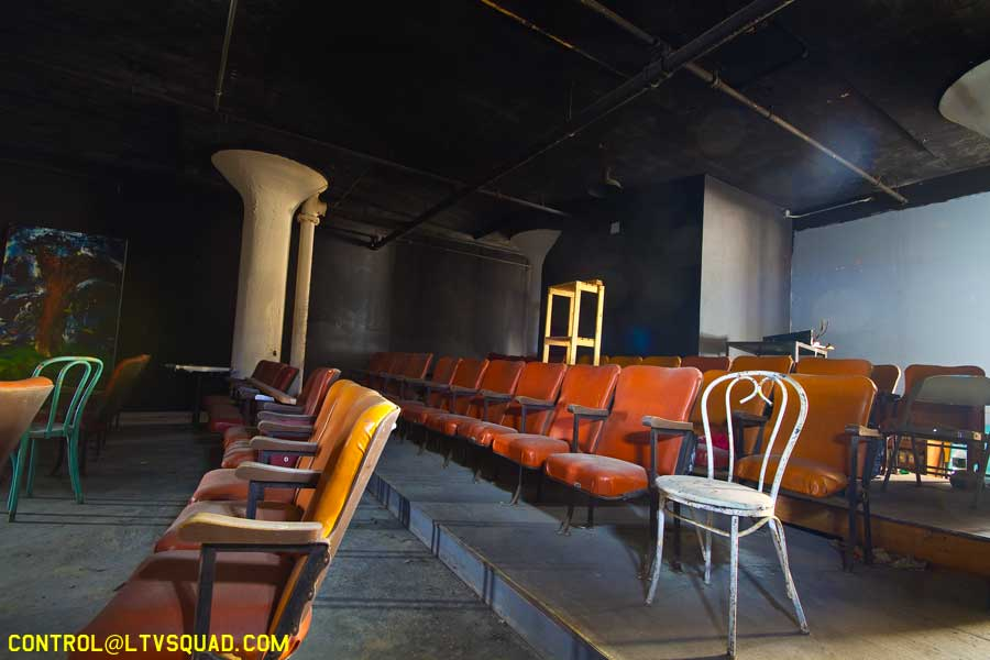 Abandoned theater inside 'the space'