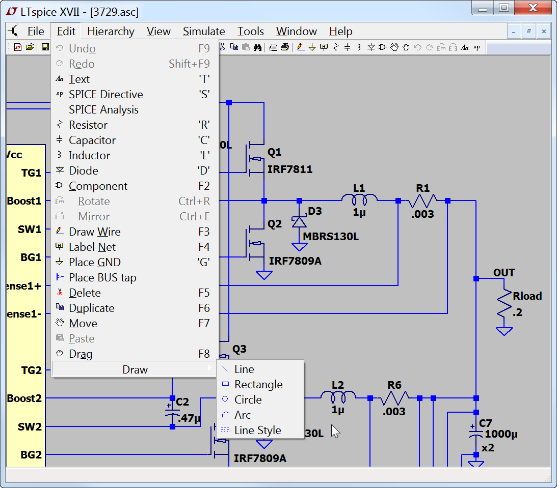hight resolution of basic schematic editing
