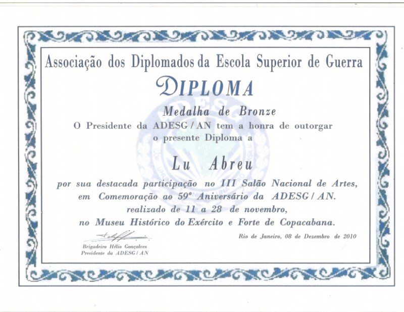 III Salão Nacional de Artes da Associação dos Diplomados da Escola Superior de Guerra - Copacabana/RJ