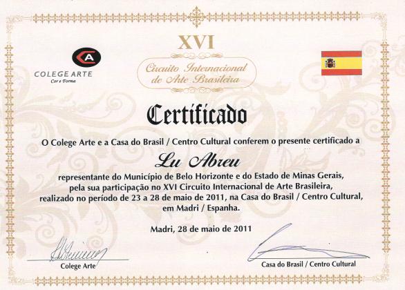 XVI Circuito Internacional de Arte Brasileira - Madri/Espanha