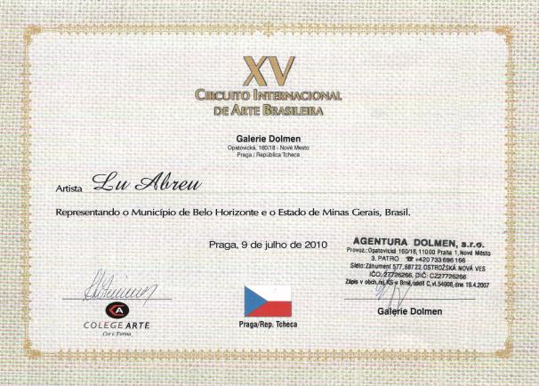 XV Circuito Internacional de Arte Brasileira - Praga/República Tcheca
