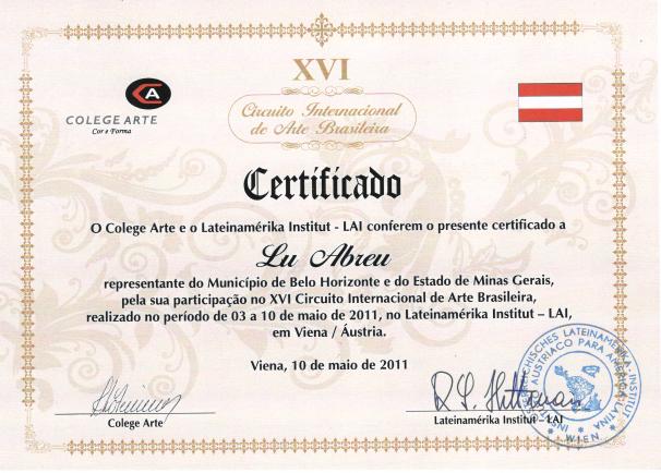 XVI Circuito Internacional de Arte Brasileira -  Viena/Aústria