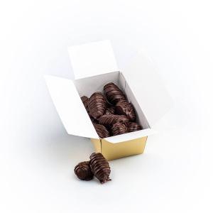Curmale cu ghimbir confiat, în ciocolată neagră