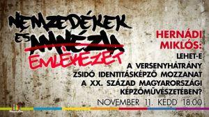 Lehet-e a versenyhátrány zsidó identitásképző mozzanat a XX. század magyarországi képzőművészetében?