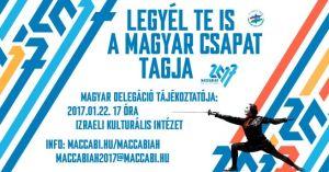 Maccabiah 2017: a magyar delegáció tájékoztatója