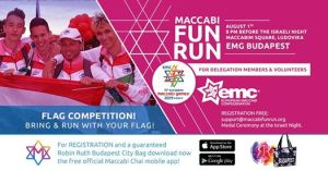 Maccabi Fun Run EMG Budapest – Only for delegations & volunteers