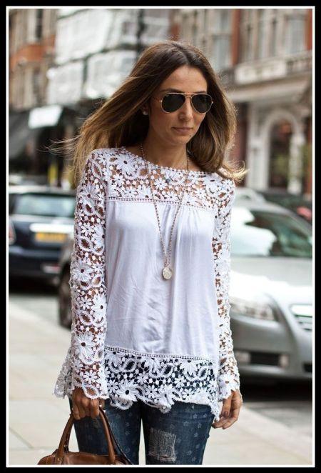 blusa branca com jeans - ROUPAS PARA A VIRADA DO ANO
