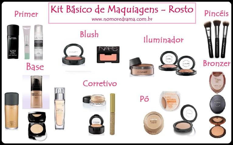 kit maquiagem - COMO FAZER A MAQUIAGEM DE ACORDO COM O SEU ROSTO