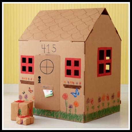 12 ideias brinquedos feitos caixa papelao reciclagem atividade criancas brincar em casa 10 1 - FAÇA VOCÊ MESMA BRINCADEIRAS PARA AS CRIANÇAS USANDO PAPELÃO