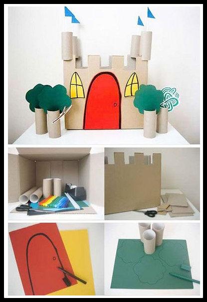 12 ideias brinquedos feitos caixa papelao reciclagem atividade criancas brincar em casa 11 - FAÇA VOCÊ MESMA BRINCADEIRAS PARA AS CRIANÇAS USANDO PAPELÃO