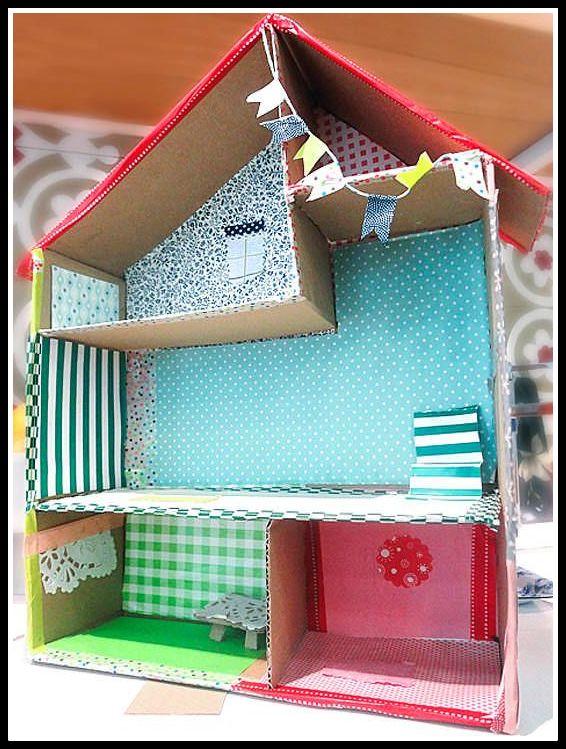 casa de bonecas papel - FAÇA VOCÊ MESMA BRINCADEIRAS PARA AS CRIANÇAS USANDO PAPELÃO