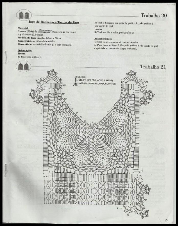 grafico banheiro branco1 - TAPETES  DE BARBANTE PARA BANHEIRO COM GRÁFICOS