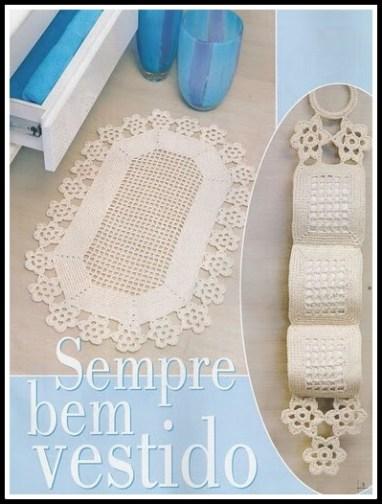 jogo banheiro barbante graficos11 - TAPETES  DE BARBANTE PARA BANHEIRO COM GRÁFICOS