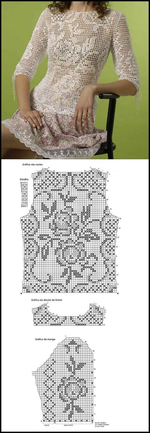 blusa croche com grafico1 - LINDAS BLUSAS DE CROCHÊ COM GRÁFICOS PARA IMPRIMIR