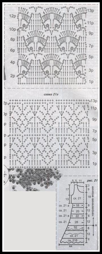 grafico2 vestido - VESTIDOS DE CROCHÊ COM GRÁFICO PARA IMPRIMIR