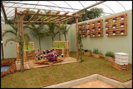 jardim com caixotes