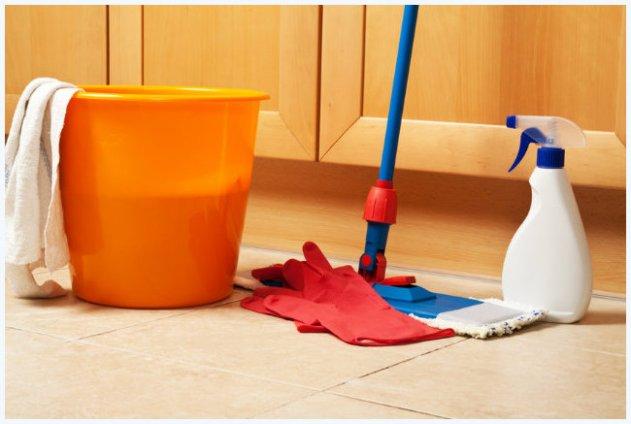limpando o chão - COMO USAR O VINAGRE E O BICARBONATO NA LIMPEZA DA CASA E DAS ROUPAS