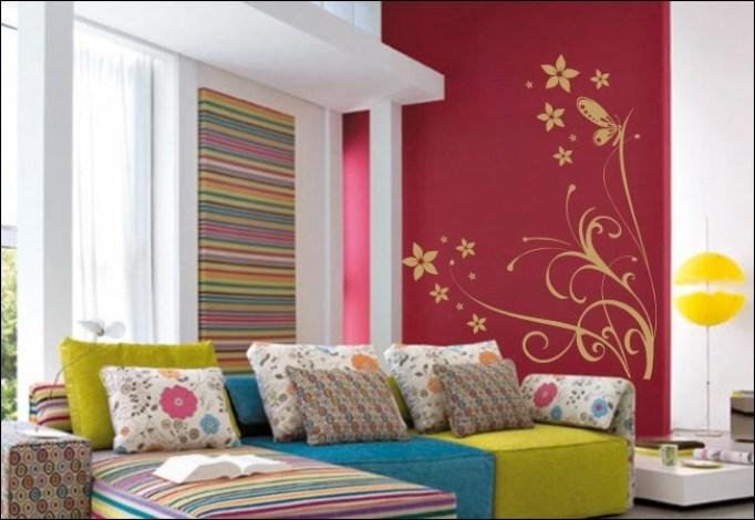 decorar a casa com adesivos de parede - COMO DECORAR GASTANDO POUCO COM ADESIVOS