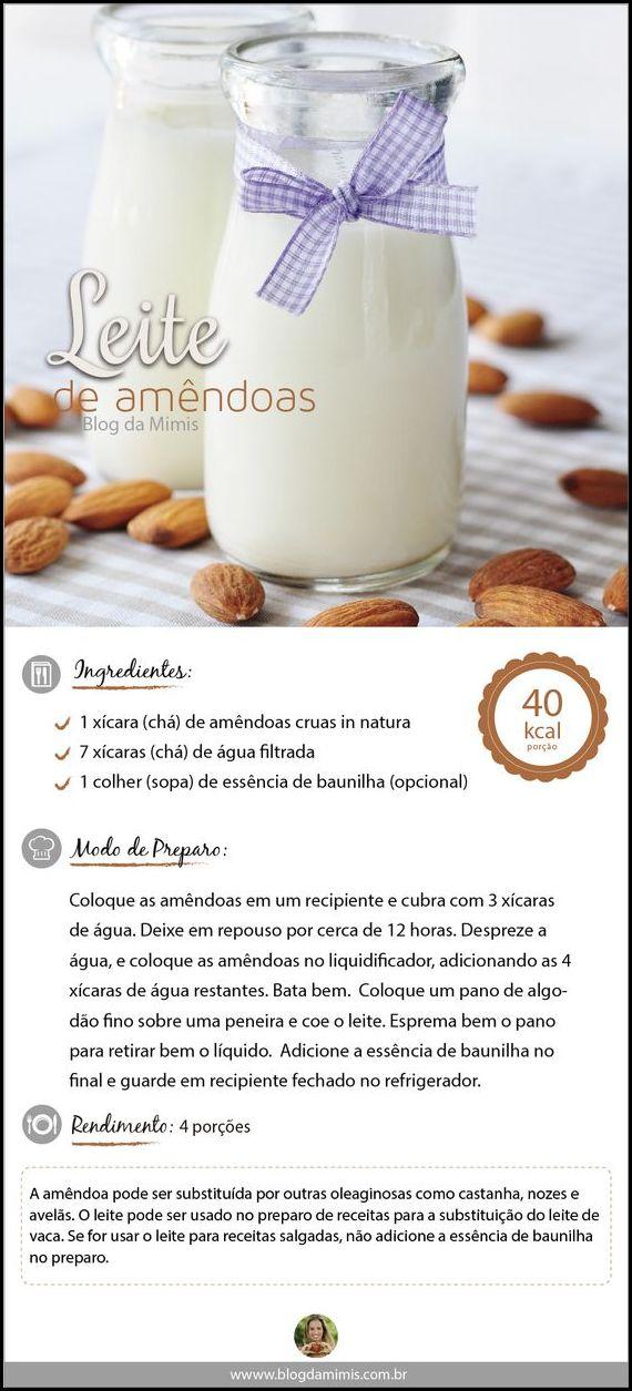 leite de amendoas - COMO FAZER LEITE DE AVEIA, ARROZ E AMÊNDOAS