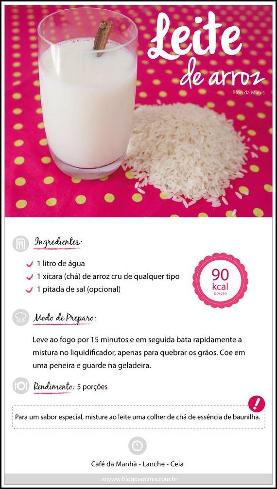 leite de arroz.blogdamimicombr - COMO FAZER LEITE DE AVEIA, ARROZ E AMÊNDOAS