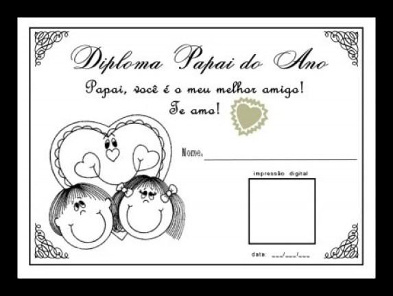 certificados - CARTÕES E MENSAGENS PARA O DIA DOS PAIS PARA IMPRIMIR