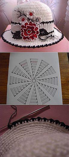 chapeus-de-crochê-infantil-com-gráfico