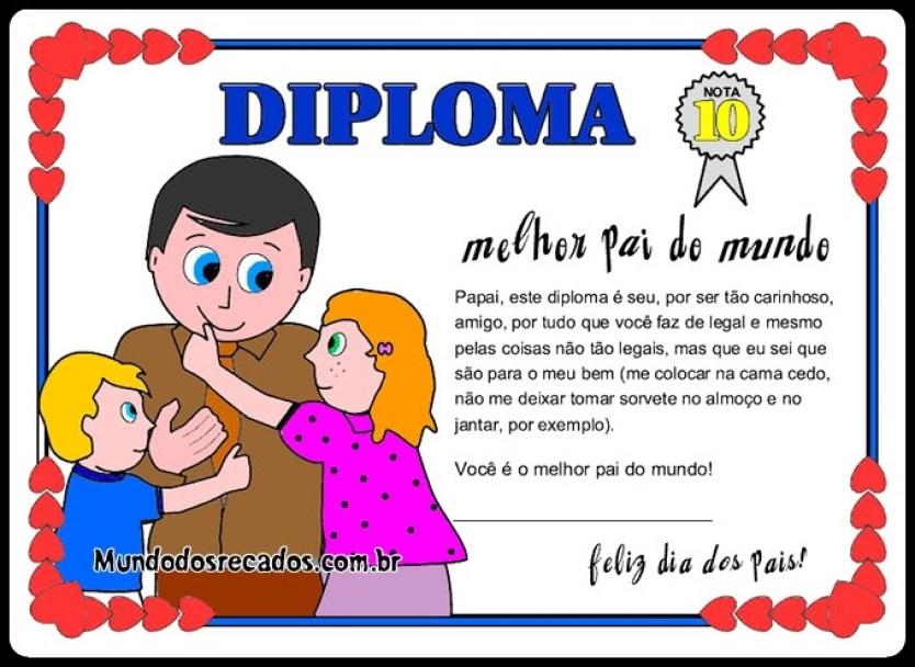 diploma dia dos pais5 - CARTÕES E MENSAGENS PARA O DIA DOS PAIS PARA IMPRIMIR