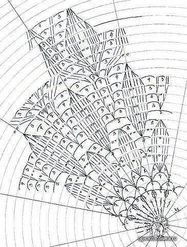 grafico vestido folha1 - TRÊS VESTIDOS DE CROCHÊ COM GRÁFICOS