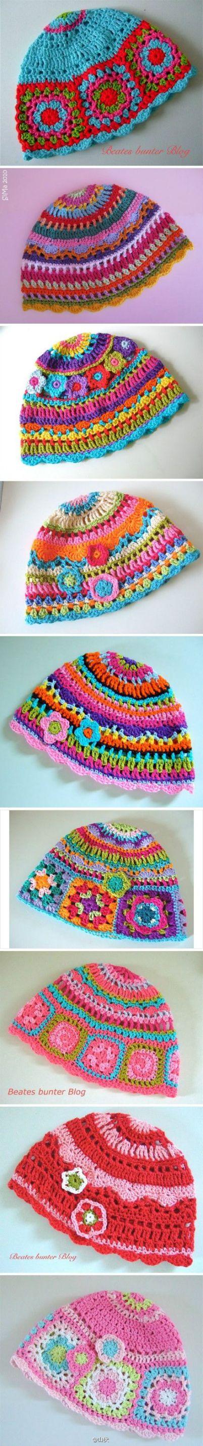 modelos de chapéus de crochê - LINDOS MODELOS DE CHAPÉUS DE CROCHÊS INFANTIS