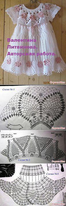 Vestidos Infantis De Crochê Com Gráficos Luanna Pimentel