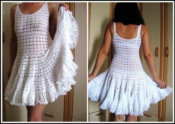 vestido de crochê rodado 1024x728 - TRÊS VESTIDOS DE CROCHÊ COM GRÁFICOS