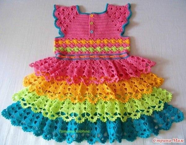 vestido infantil colorido2
