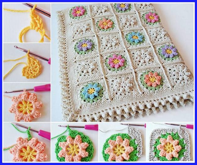 tapete de croche com flores - TAPETES DE CROCHÊ COM GRÁFICOS E RECEITAS MODELOS 2017