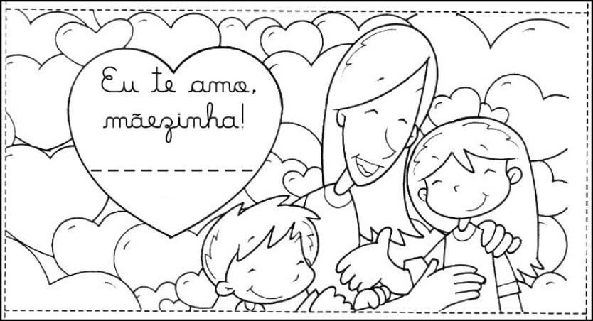 cartão dia das mães.para colorir.3 - FAÇA VOCÊ MESMA LEMBRANÇAS E CARTÕES PARA O DIA DAS MÃES