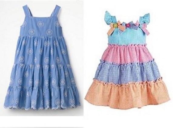 vestido alcinha com 3 babados - MOLDES DE COSTURA PARA IMPRIMIR: VESTIDOS INFANTIS DE 1 A 14 ANOS