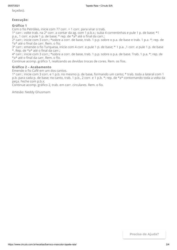 receita do tapete de sobras de linha 2 724x1024 - CROCHÊ COM GRÁFICO E RECEITA:LINDO TAPETE COM SOBRAS DE LINHA