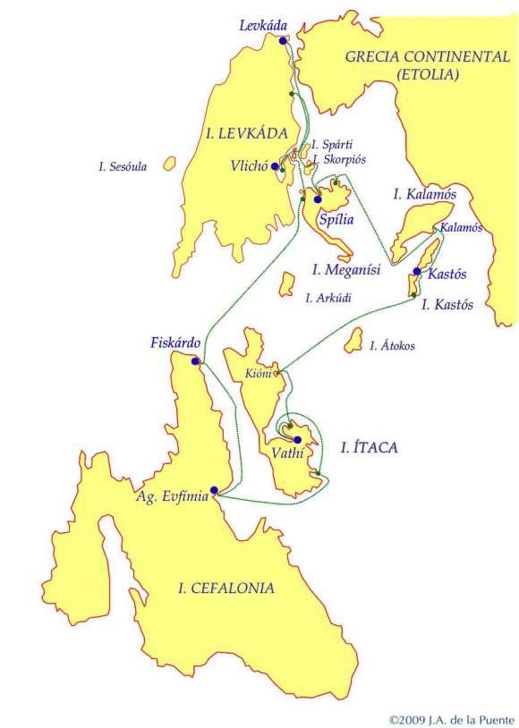 Carta de las islas Jónicas