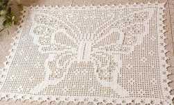 como fazer tapete em crochê filé