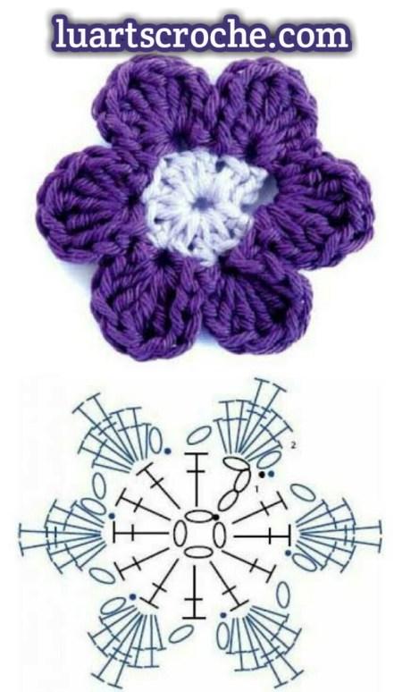 gráfico flor de croche crocs