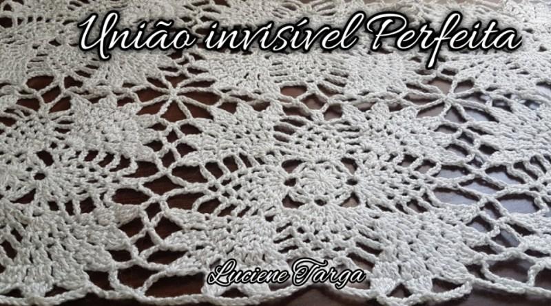 união de croche interligada invisível perfeita