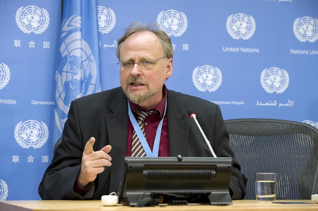 Là một giáo sư luật ở Đức, ông Heiner Bielefeldt được bổ nhiệm vào vị rí Báo cáo viên đặc biệt của Liên Hiệp Quốc về tự do tôn giáo và tín ngưỡng từ năm 2010. Ảnh: ISHR
